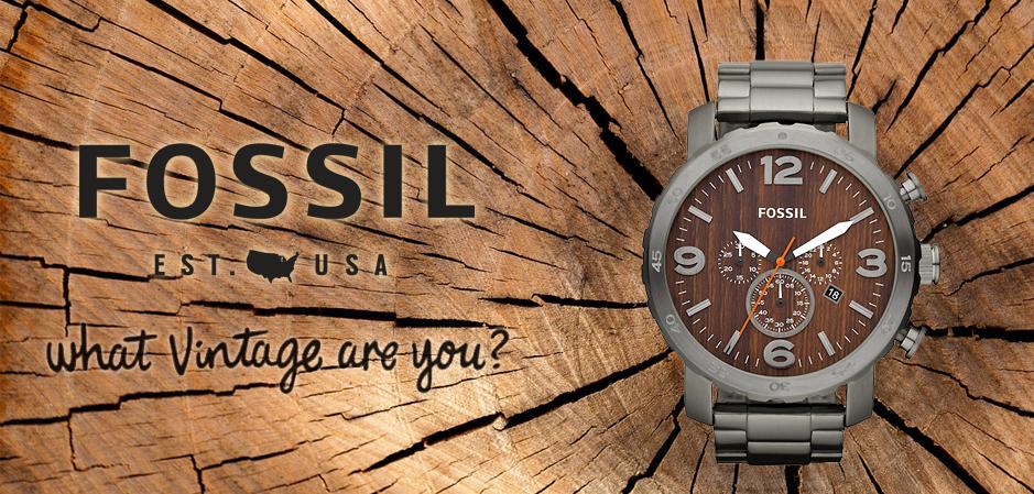 Zegarki retro według marki Fossil