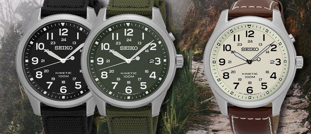 Nowe zegarki Seiko Kinetic